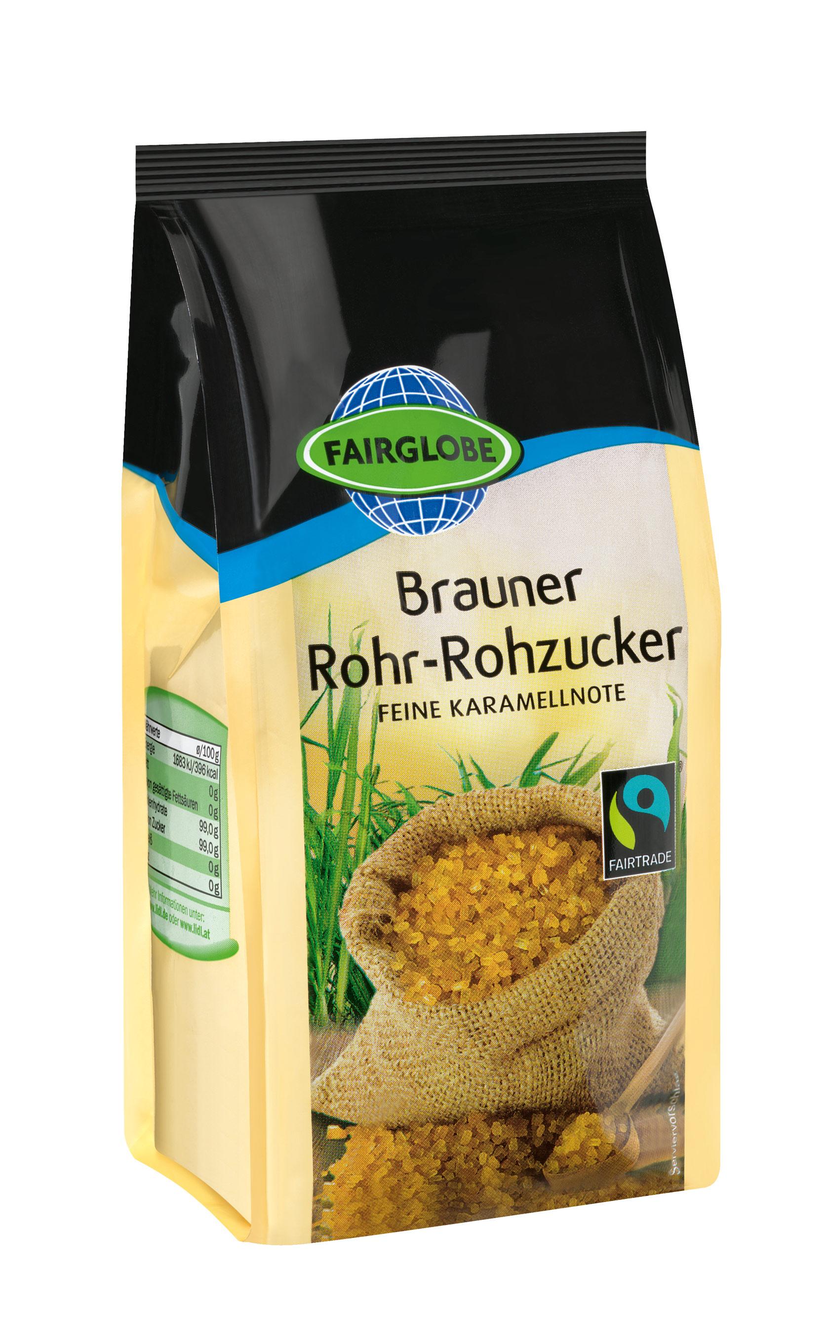 Brauner Rohr-Rohzucker