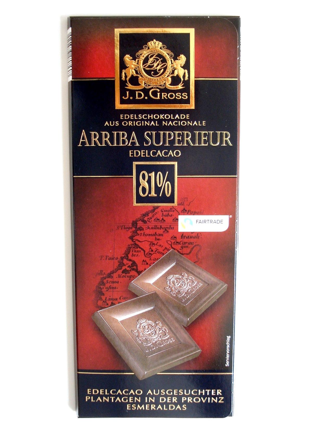Edel-Schokolade Arriba Superieur 81%