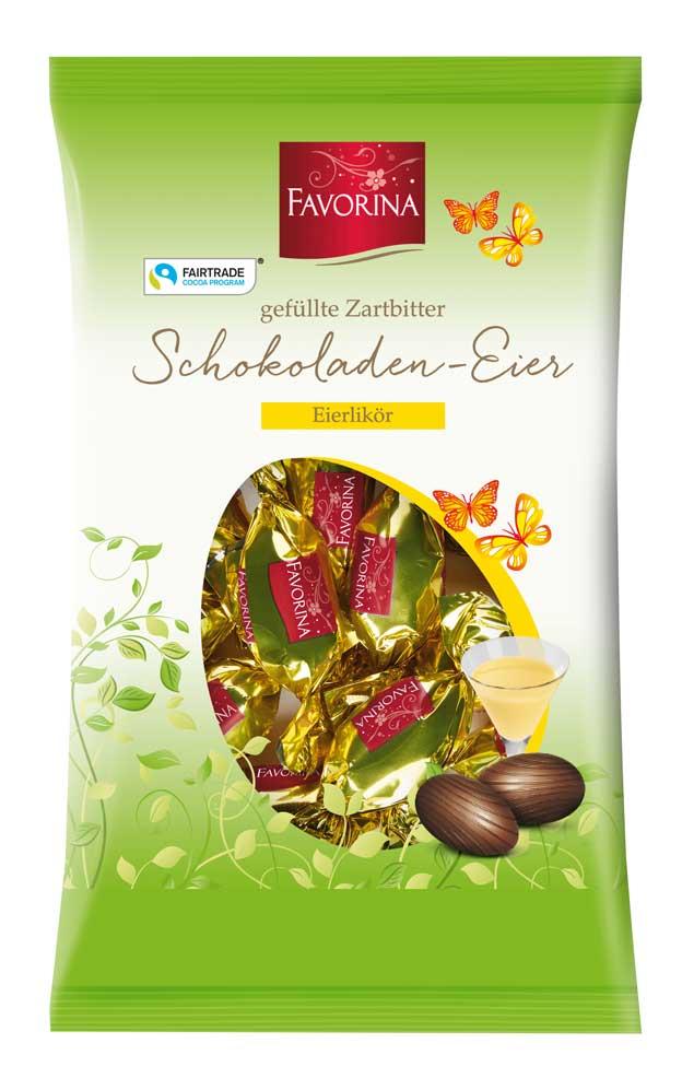 Zartbitter Schokoladen- Eier, Eierlikör