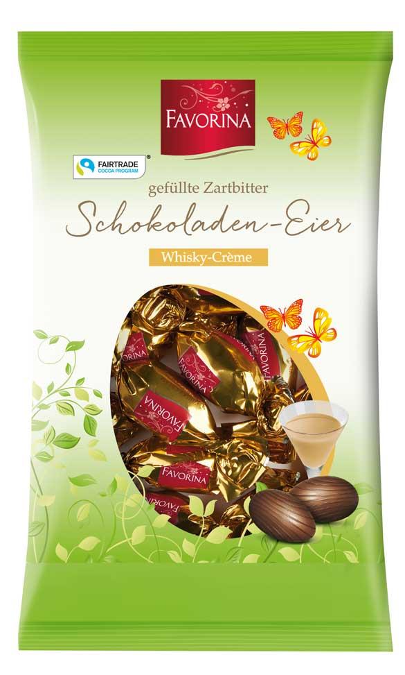 Zartbitter Schokoladen- Eier, Whiskey- Créme