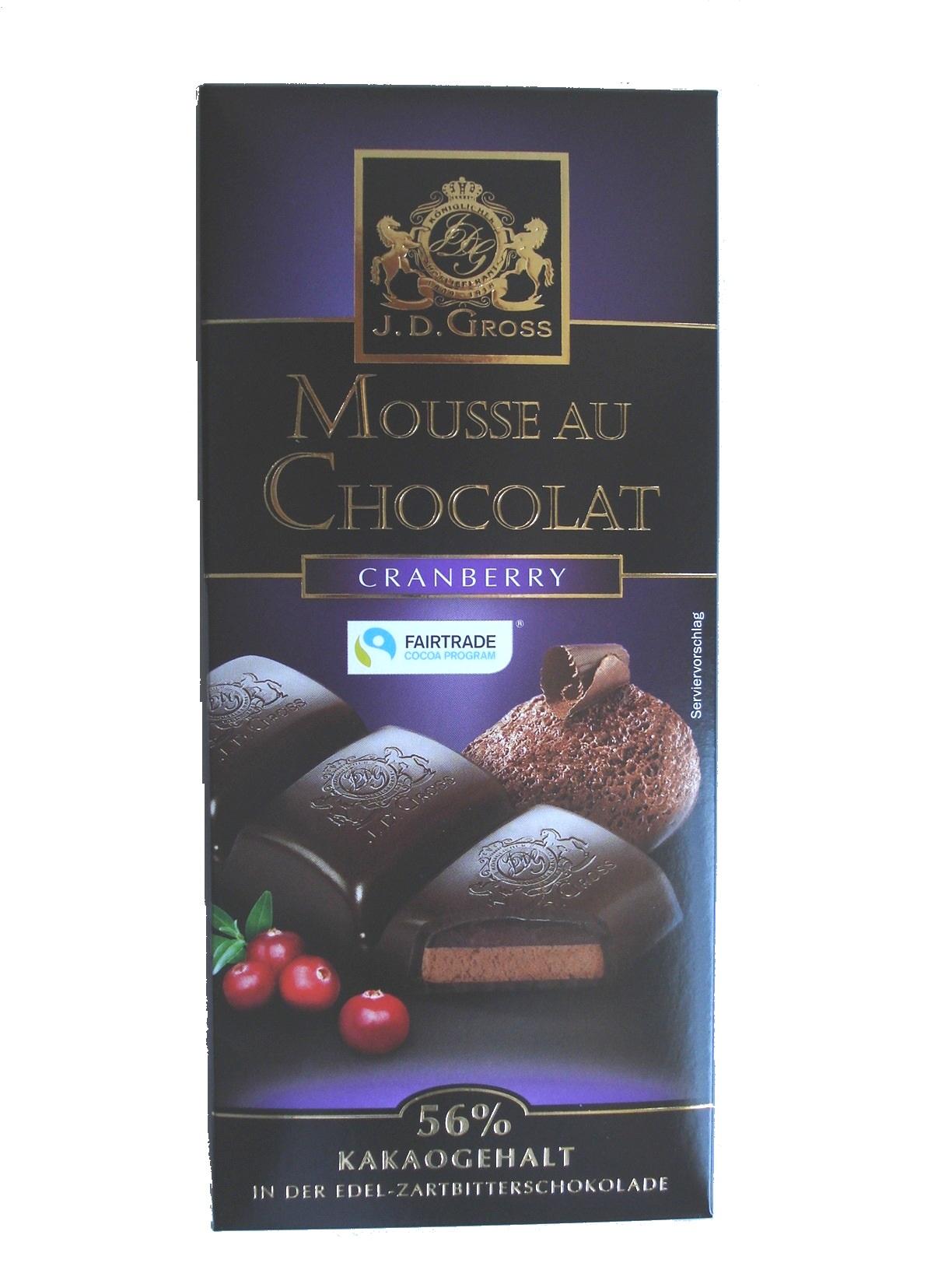Mousse au Chocolat Cranberry