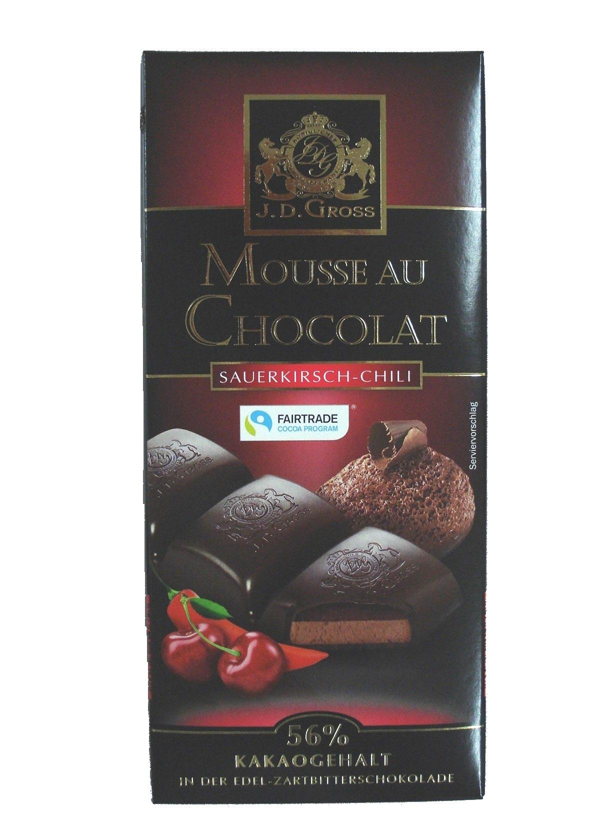 Mousse au Chocolat Sauerkirsch-Chili