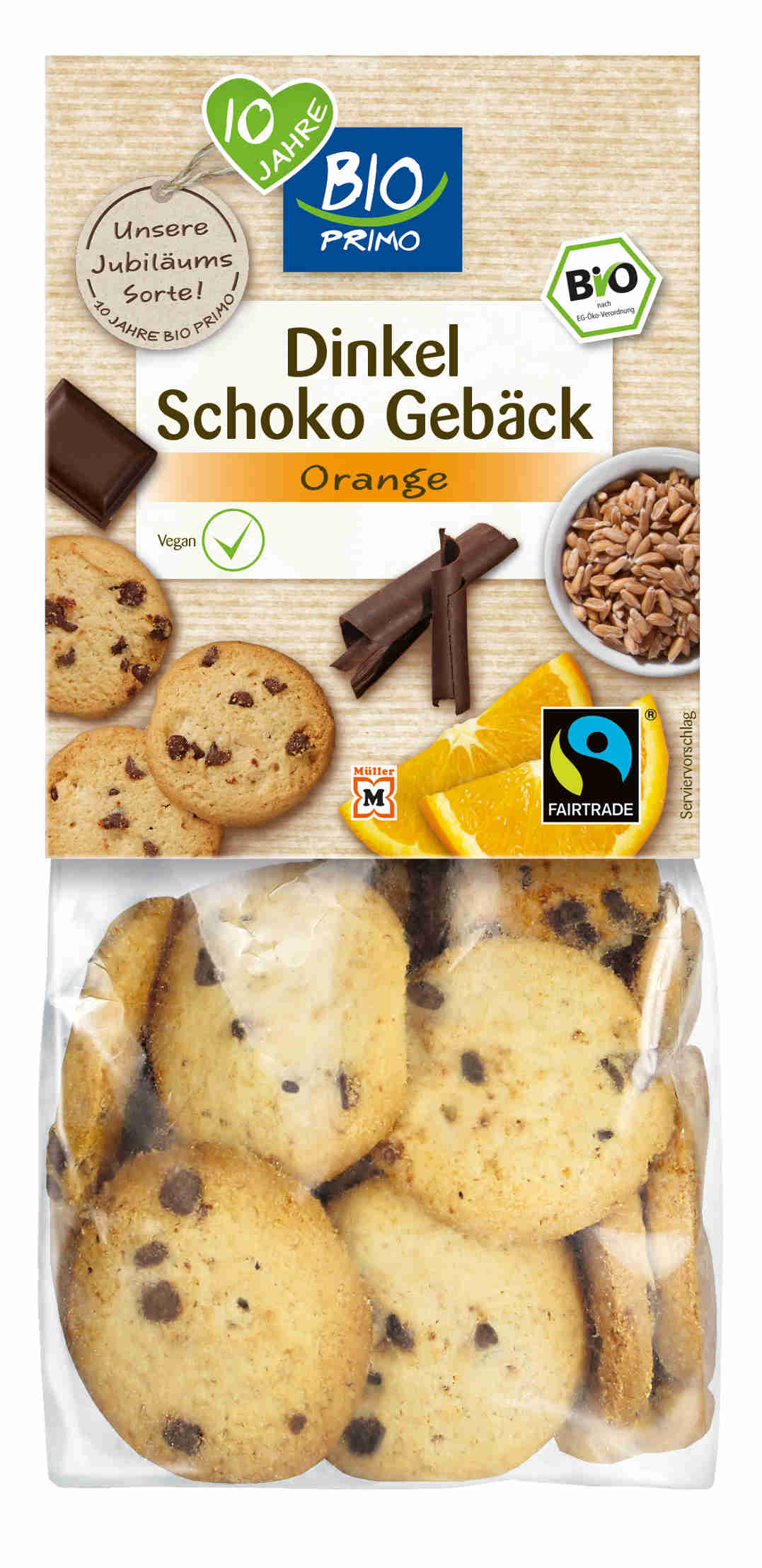 Dinkel Schoko Gebäck mit Orangenöl
