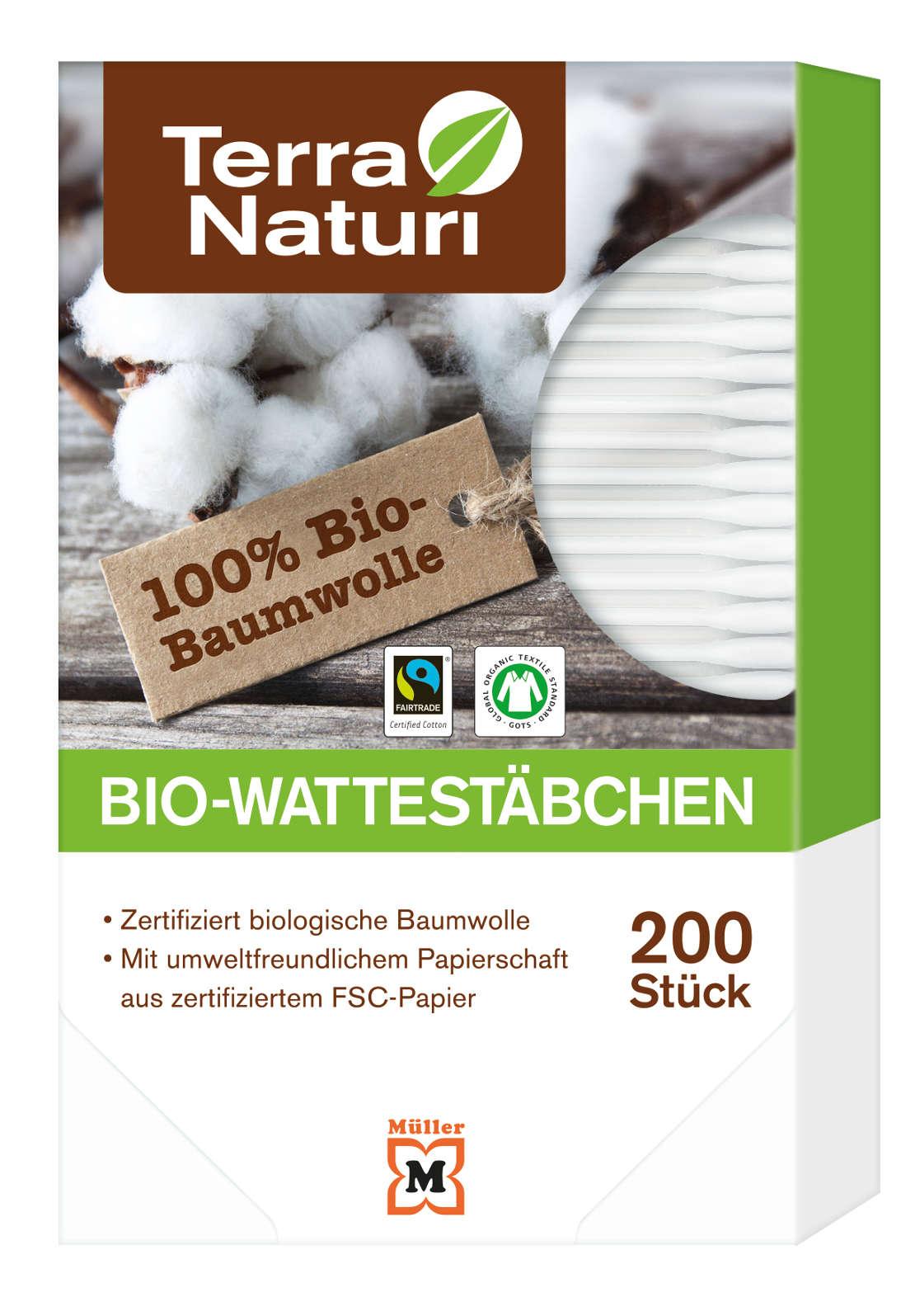 Bio-Wattestäbchen, 200 Stück
