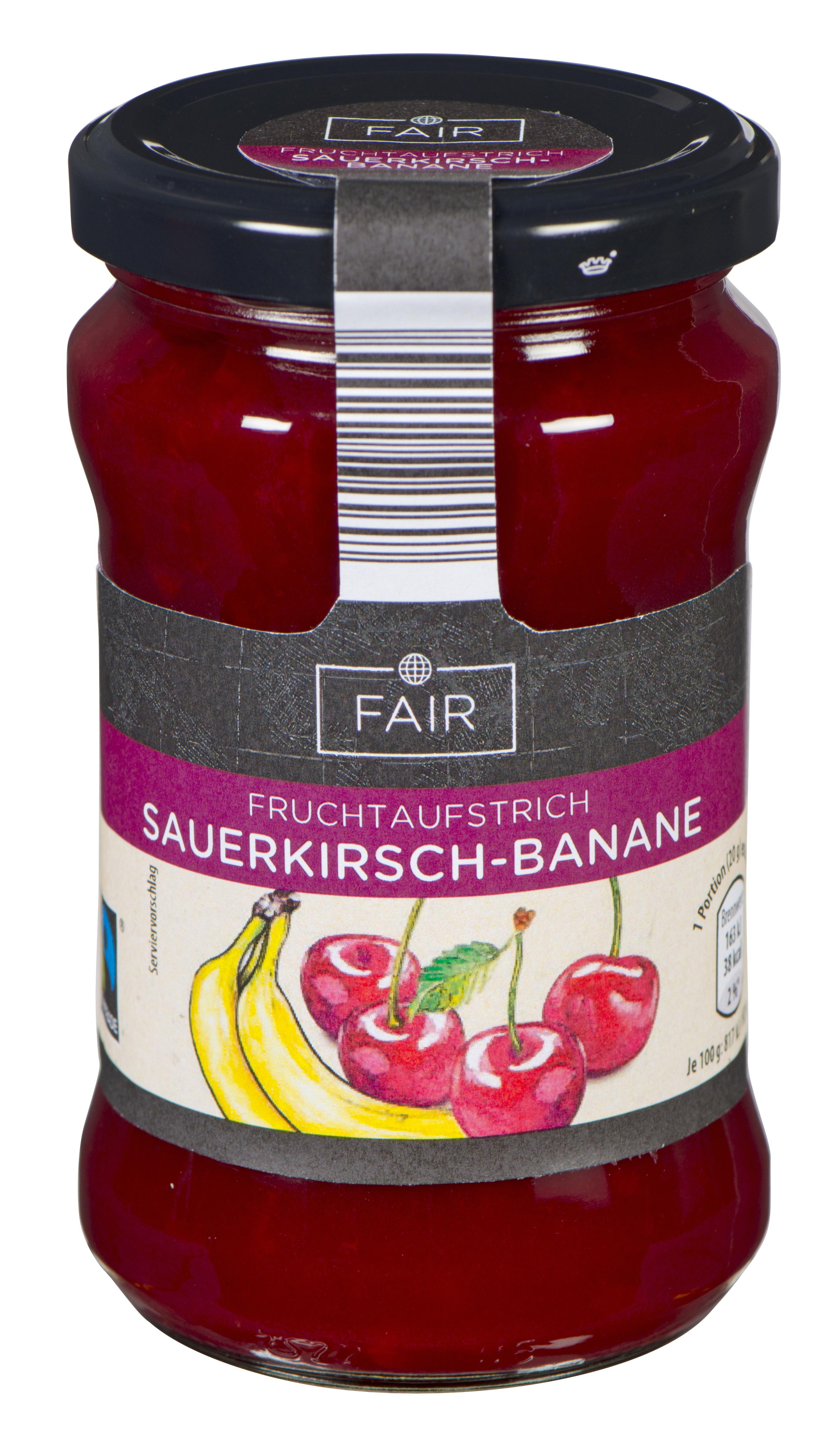 Fruchtaufstrich, Sauerkirsche-Banane