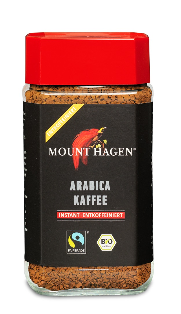 Arabica Kaffee Instant, entkoffeiniert