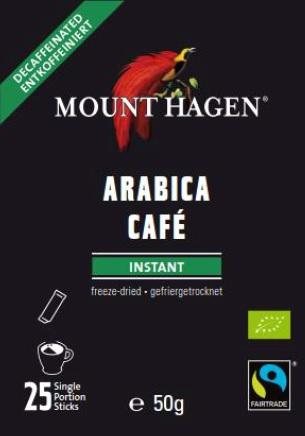 Arabica Café Instant entkoffeiniert, 25 Sticks