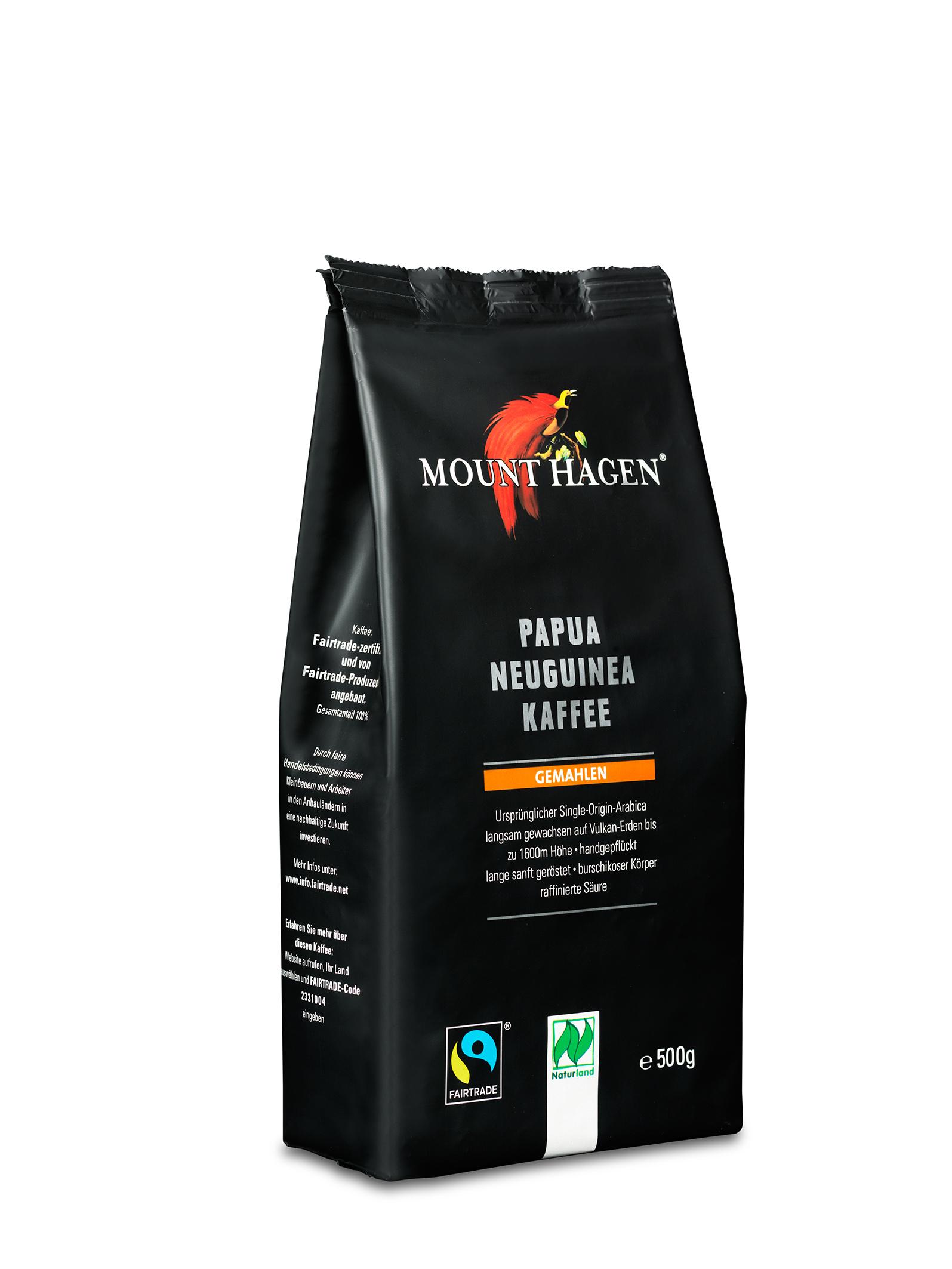 Papua Neuguinea Röstkaffee, gemahlen