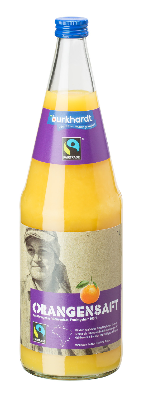 Orangensaft aus Orangensaftkonzentrat