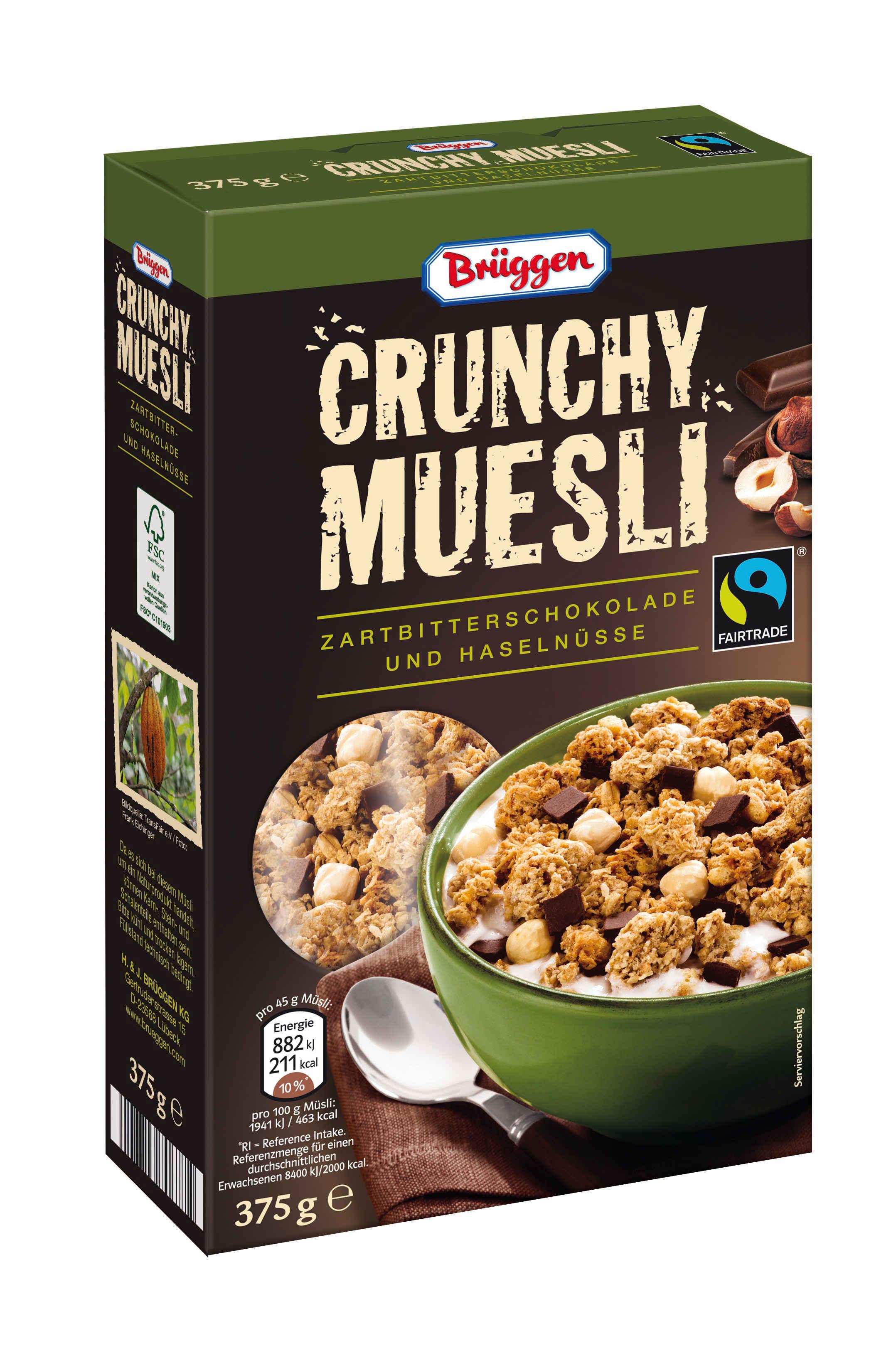Crunchy Müsli Zartbitterschokolade und Haselnüsse (Brüggen)