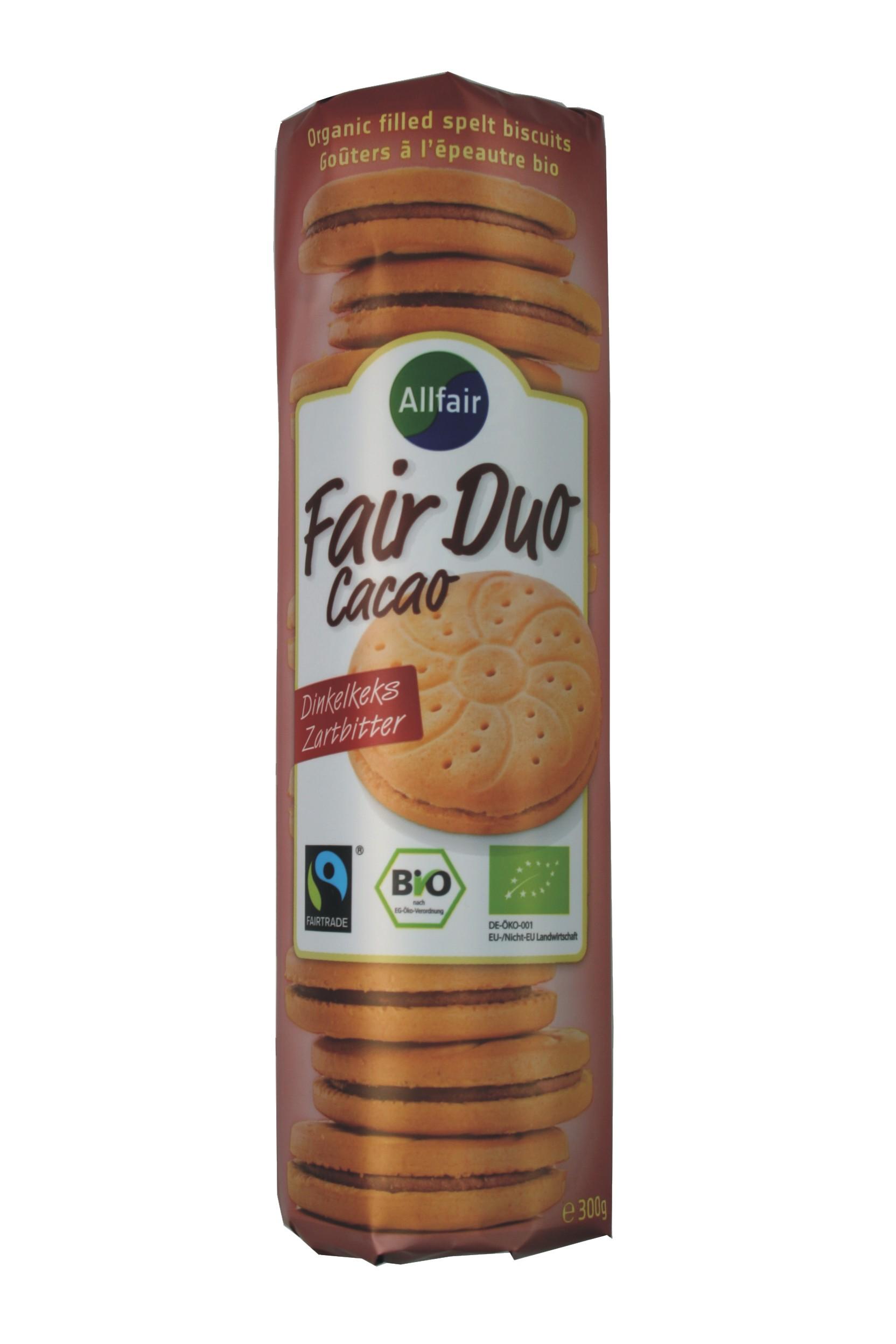Fair Duo - Cacao, Dinkelkeks Zartbitter