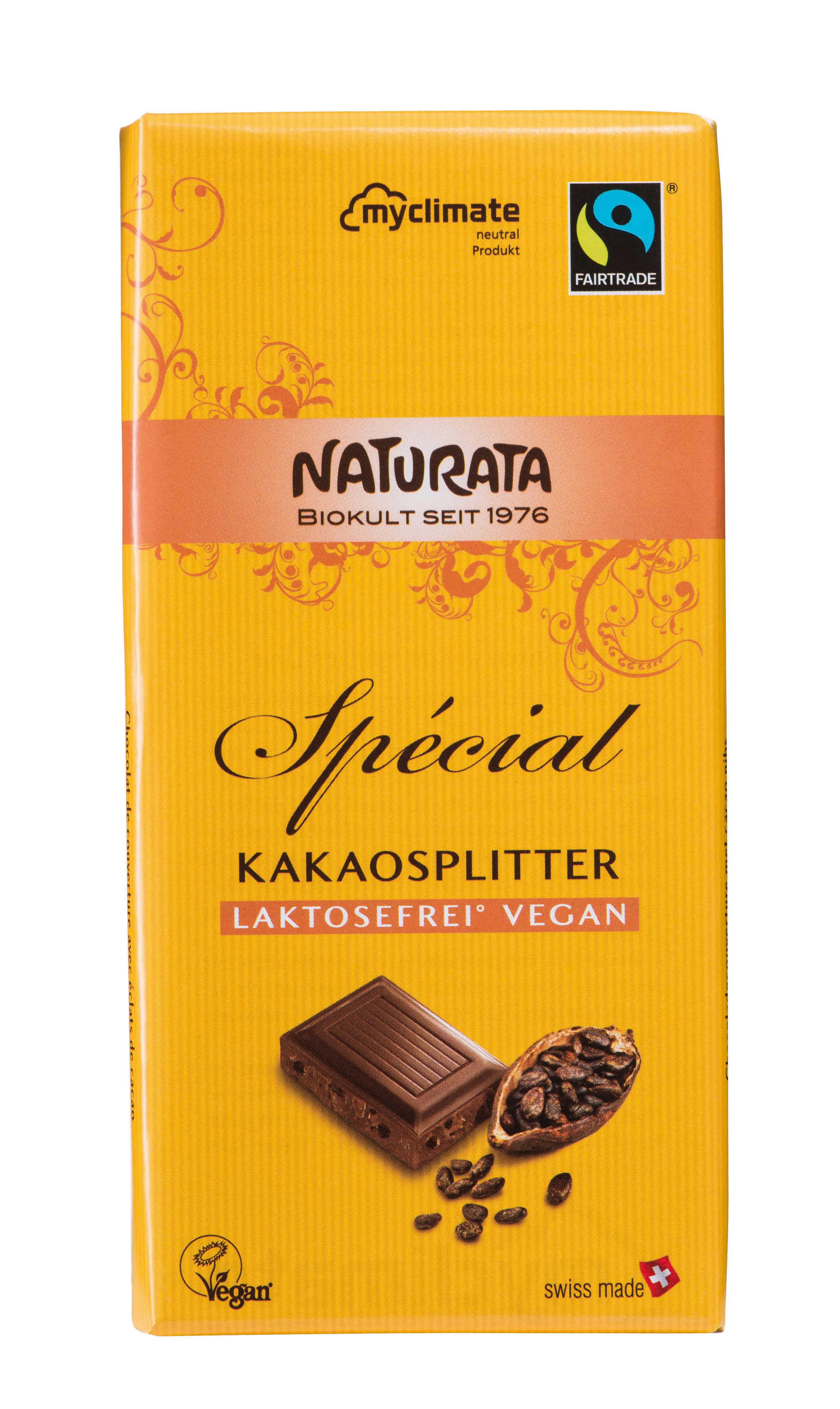 Spécial Kakaosplitter, laktosefrei vegan