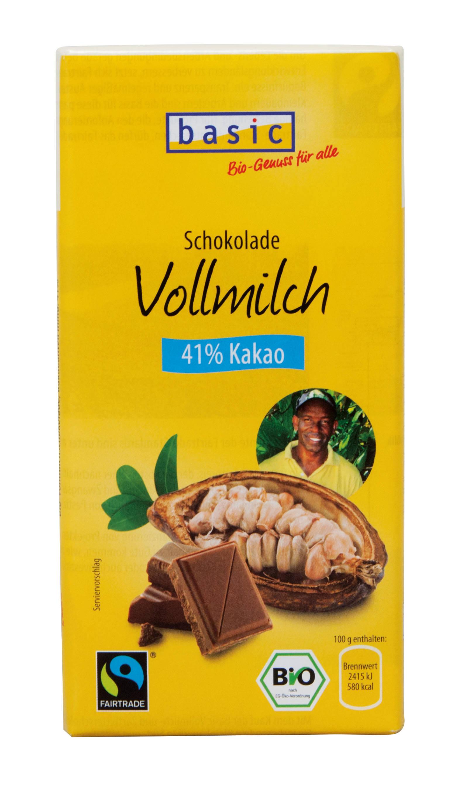Vollmilchschokolade 41%