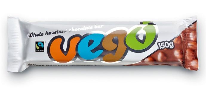 Vego Whole Hazelnut Chocolate Bar CONV, 150g