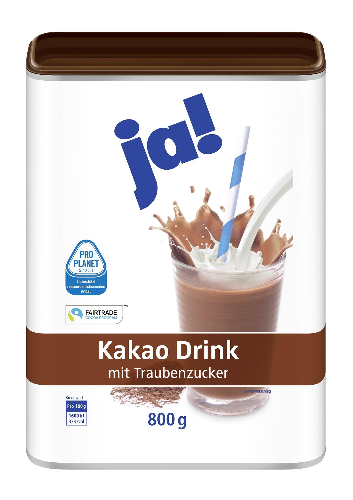 Kakao Drink mit Traubenzucker