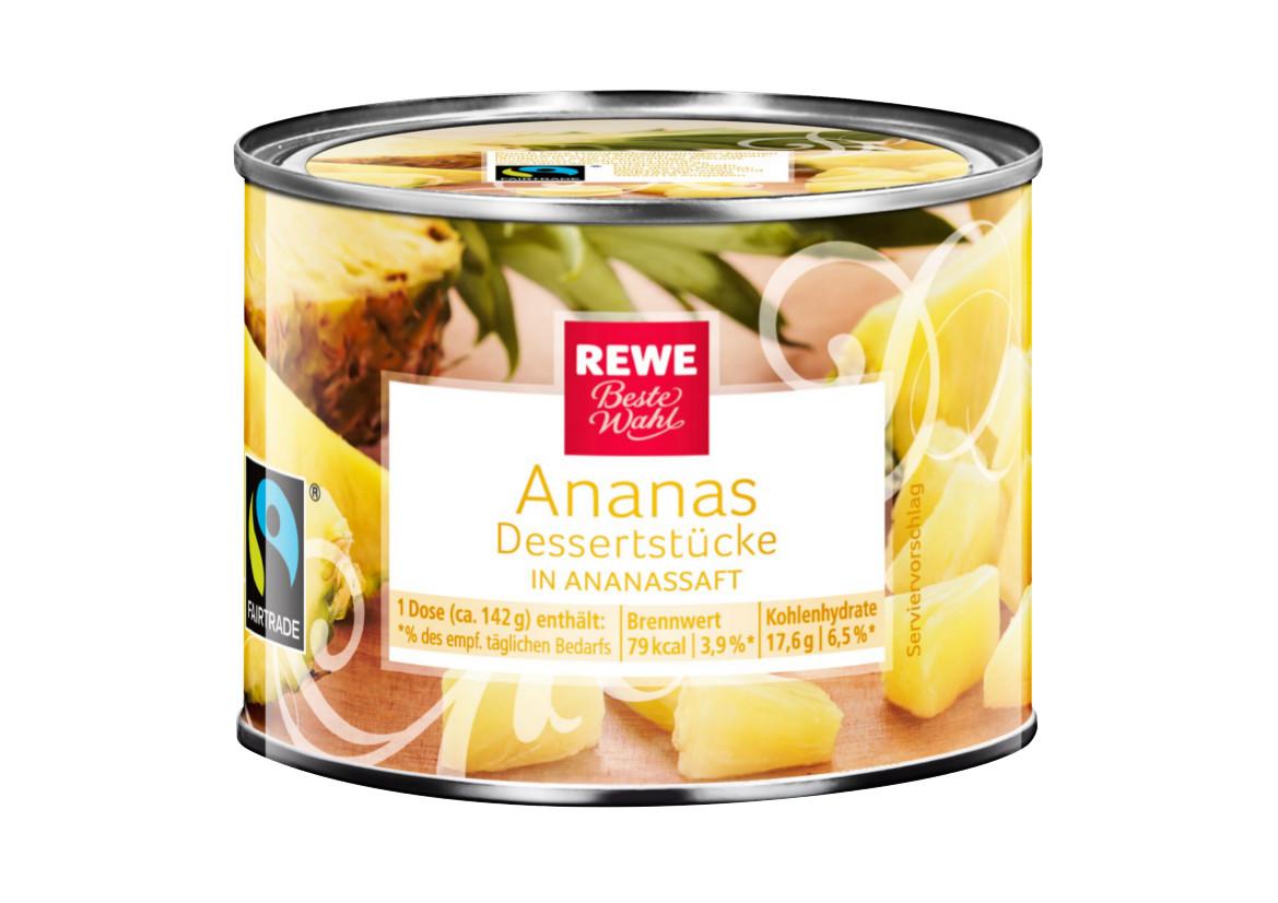 Ananas Dessertstücke in eigenem Saft