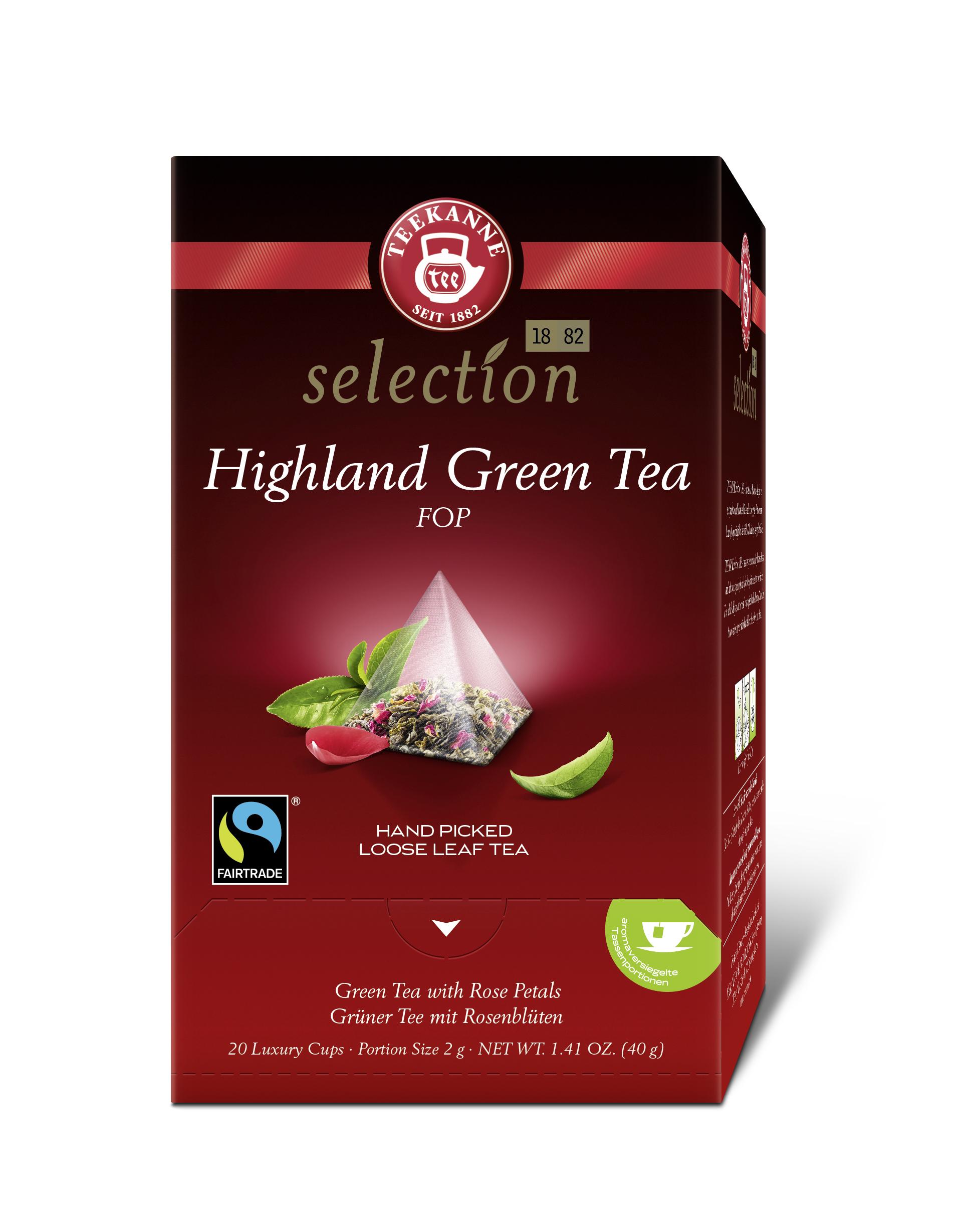 Luxury Cup Highl. Green Tea FOP 20x2g