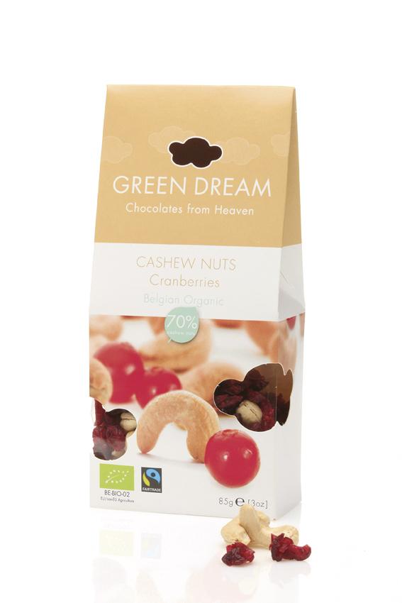 Green Dream - Cashew nuts & Cranberries box - 850 gr