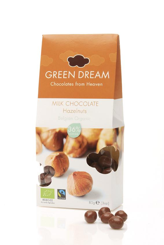 Green Dream - Chocolat au lait et noix - 85 gr