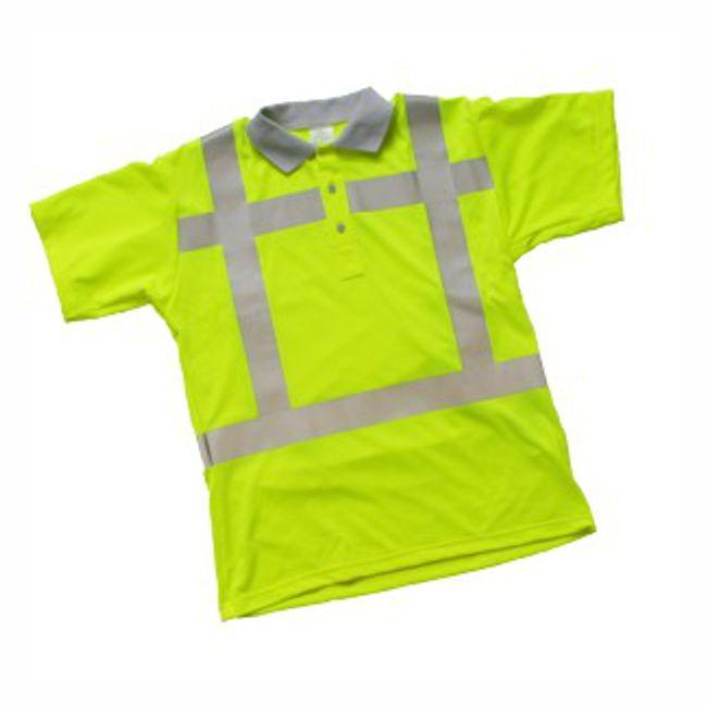 H169PTNFL Poloshirt fluor geel EN 471 2-2