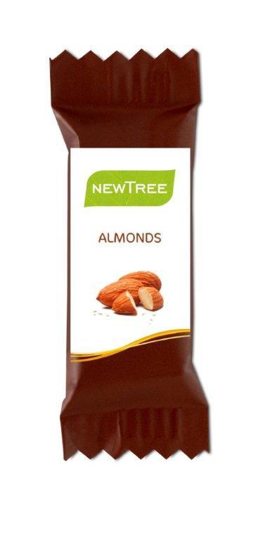 Newtree - Chocolat au lait et amandes - 4 gr