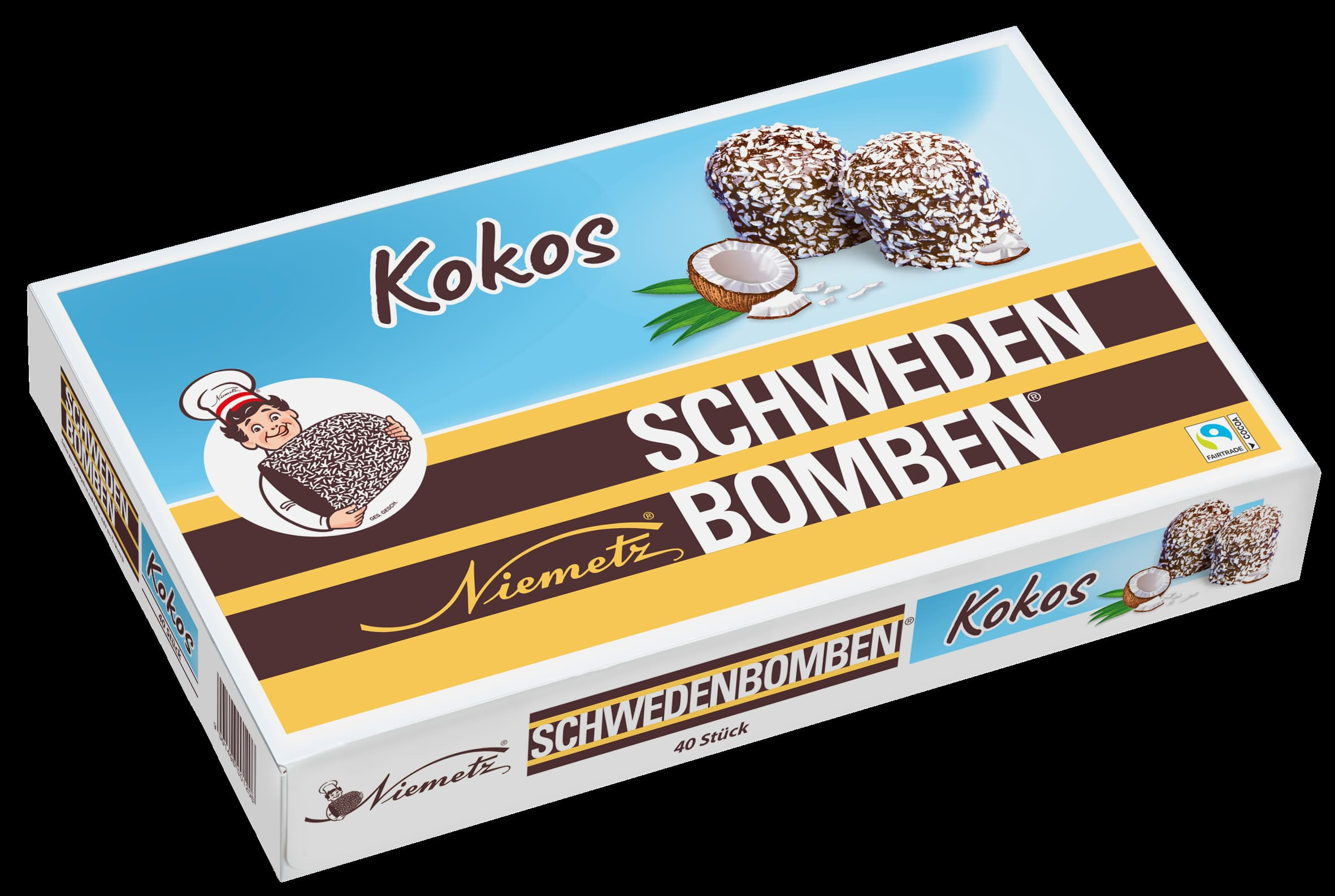 Schwedenbomben Kokos 40Stk.