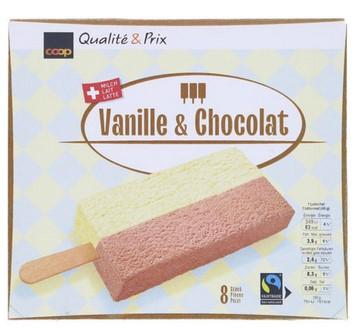 Rahmeis Vanille und Schokolade