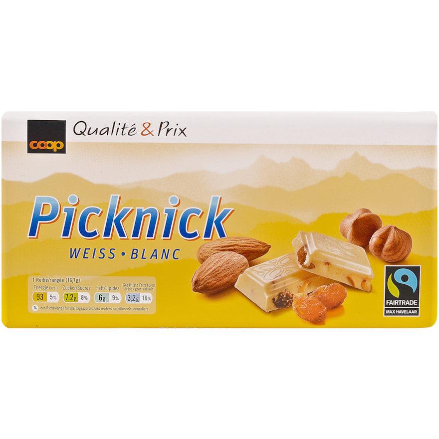 Tafelschokolade Picknick, weiss (3x100g)