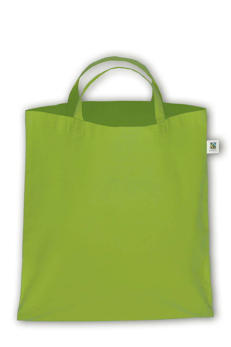 TS007 Baumwolltasche kurze Henkel farbig