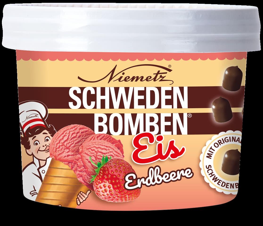 Schwedenbomben Eis Erdbeere