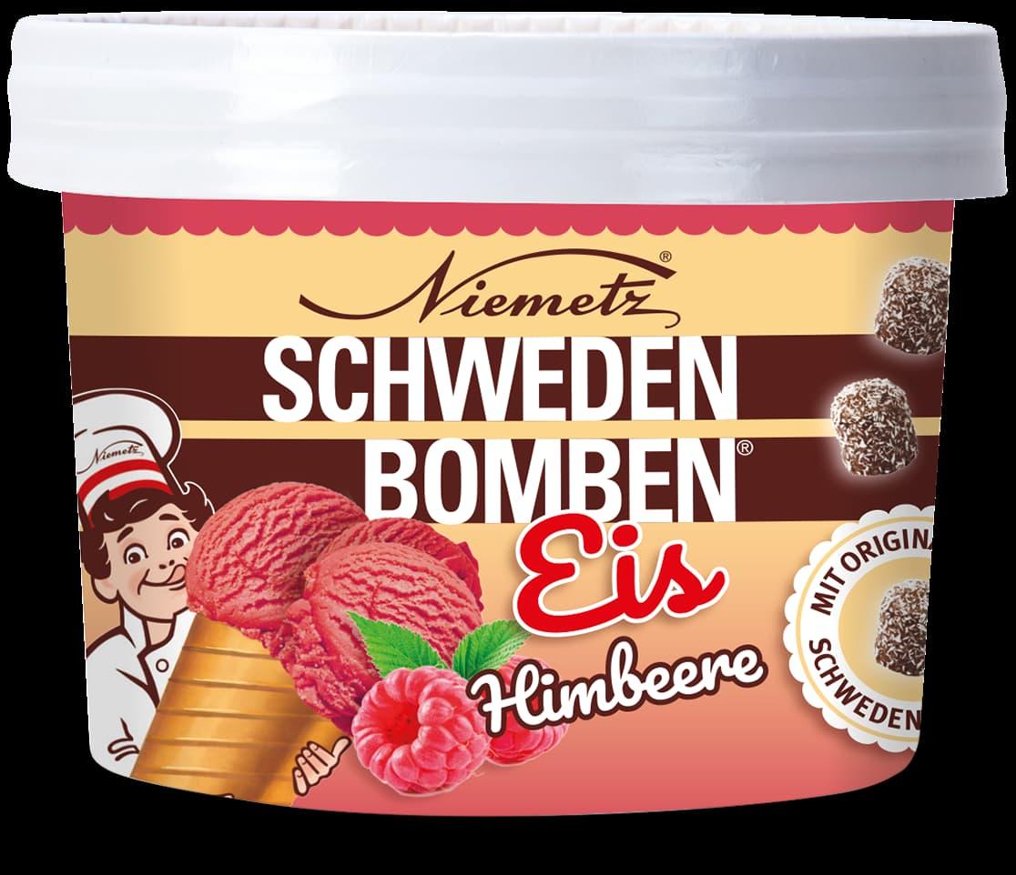 Schwedenbomben Eis Himbeere