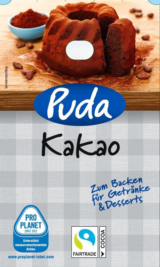Puda - Kakao zum Backen und für Desserts