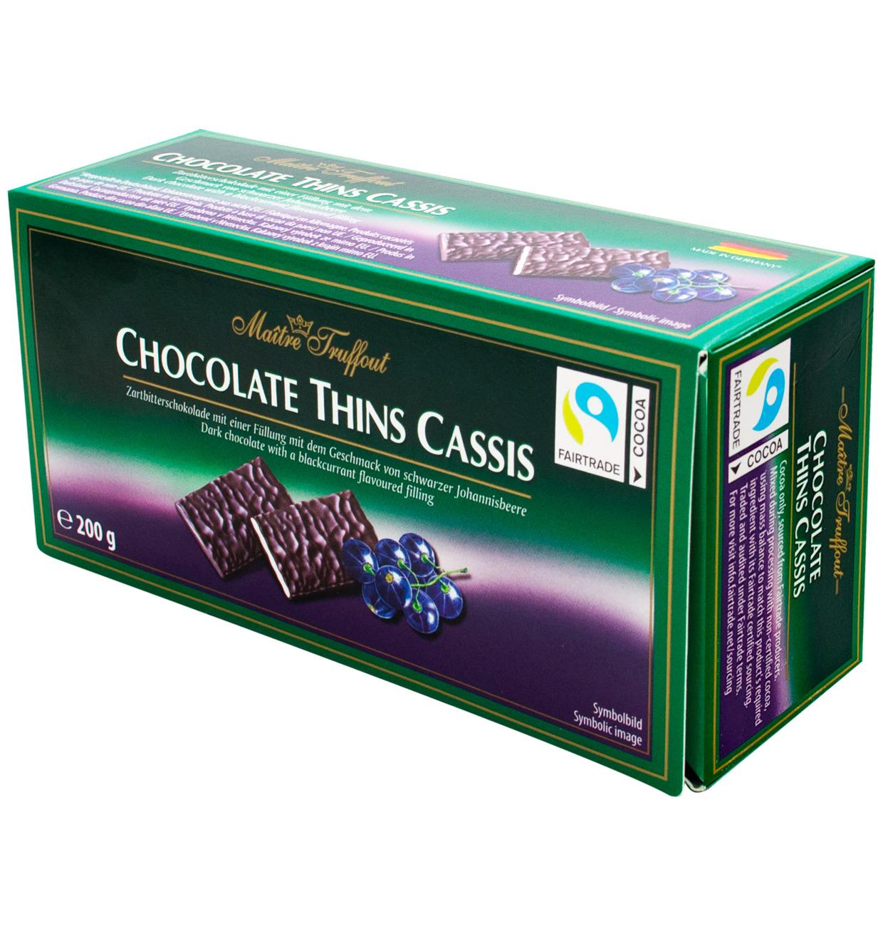 Chocolate Johannisbeere – Zartbitter Täfelchen schwarze Johannisbeere