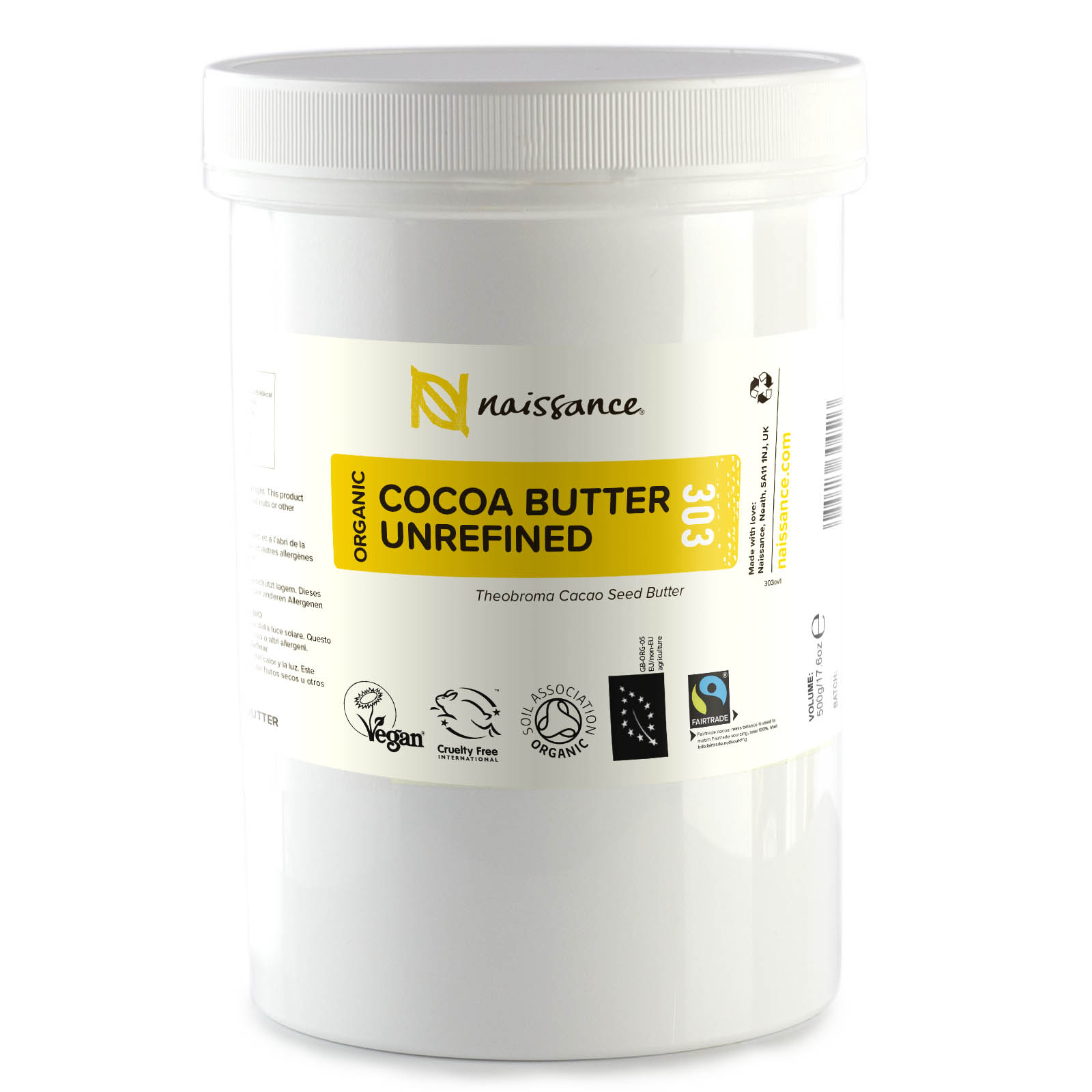 Cocoa Butter Unrefined Organic 500g