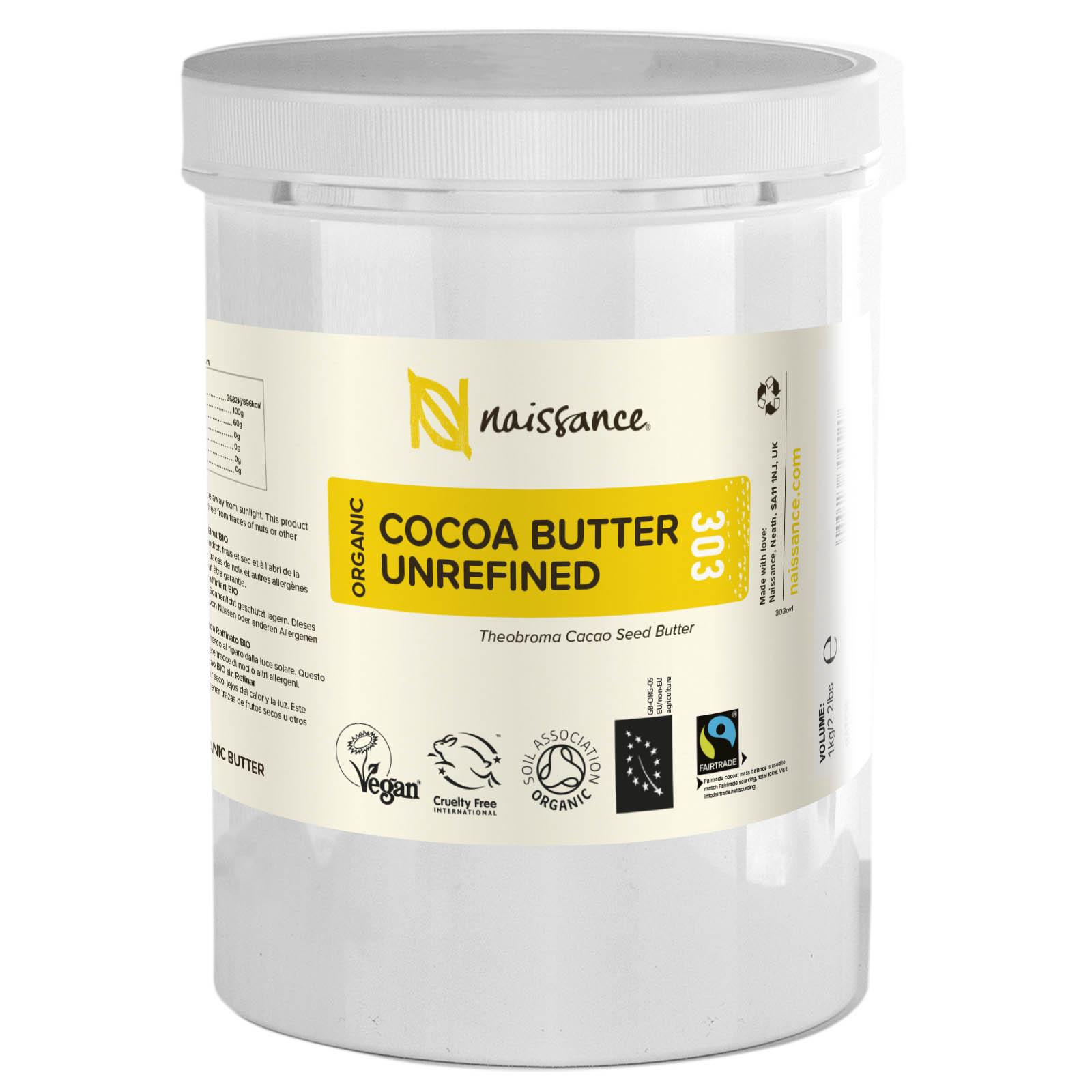 Cocoa Butter Unrefined Organic 1kg