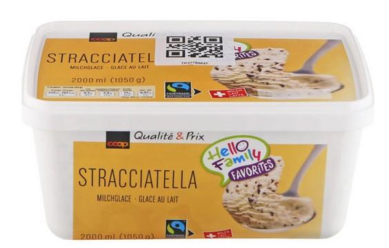 Milcheis Stracciatella
