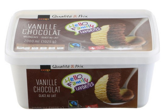 Milcheis Vanille-Schokolade