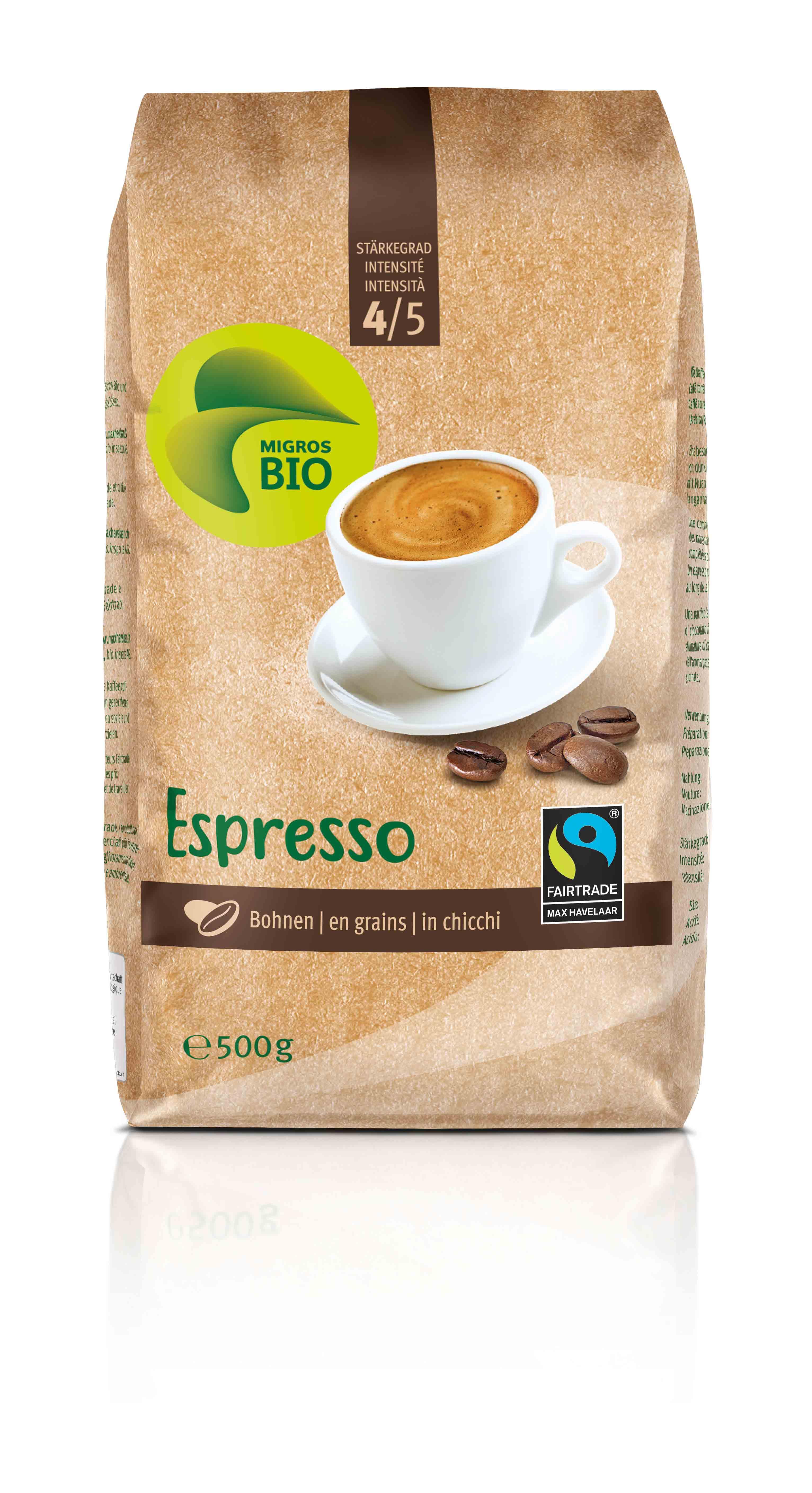 Kaffee Espresso, Bohnen