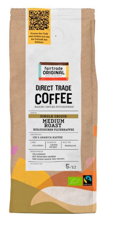 Direct Trade Coffee Medium Roast Biologischer Filterkaffee