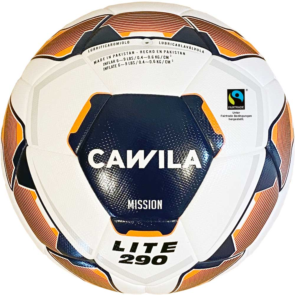 Cawila Fußball MISSION HYBRID X-LITE 290 Fairtrade, Size 4