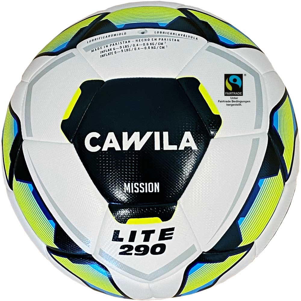 Cawila Fußball MISSION HYBRID X-LITE 290 Fairtrade, Size 5