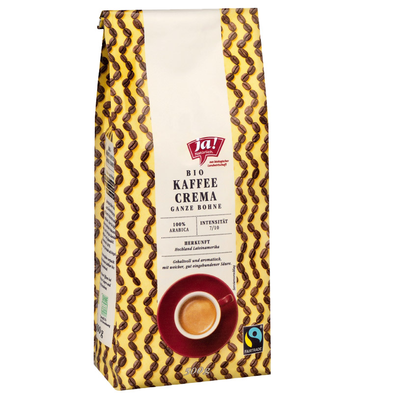 Kaffee Crema, ganze Bohne