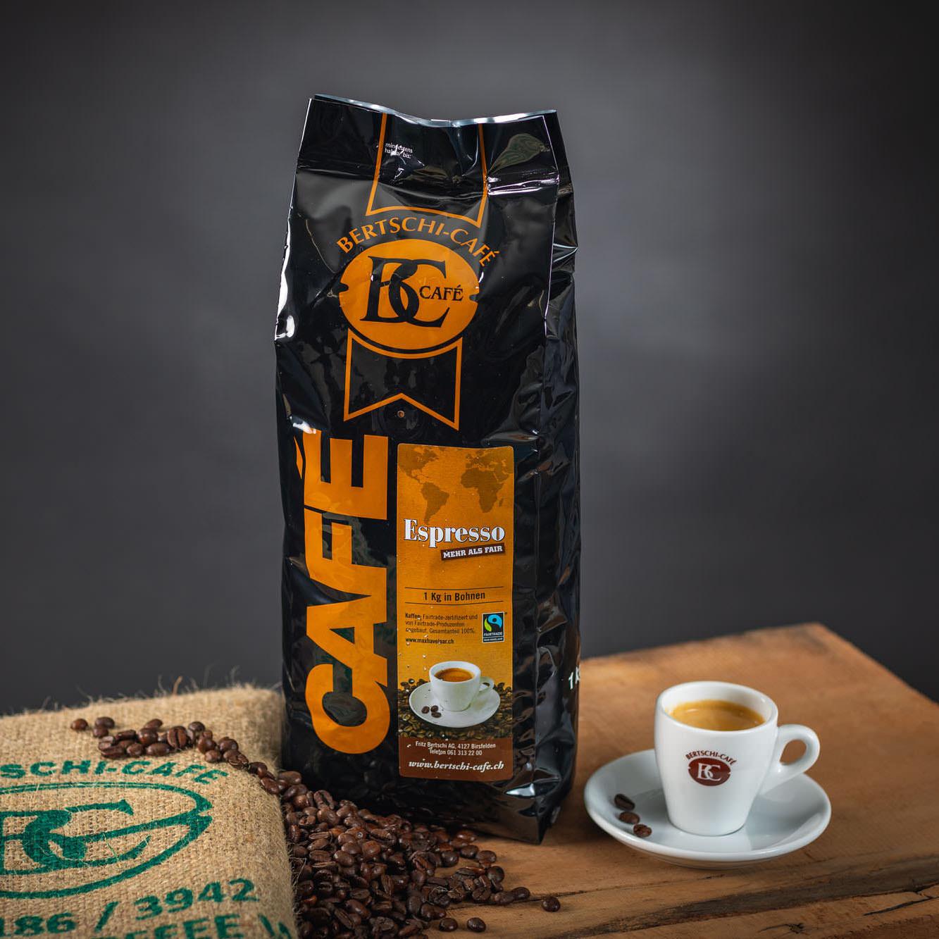 Kaffeebohnen Espresso sehr dunkel