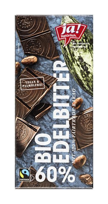 Bio Edelbitterschokolade mit 60 Prozent Kakaoanteil