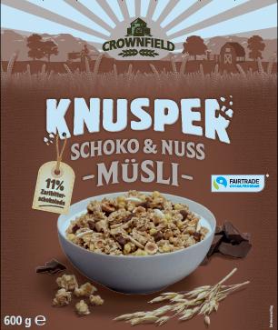 Knusper-Müsli mit Schokostückchen 11 Prozent