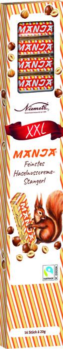 Feinste Haselnusscreme Stangerl XXL
