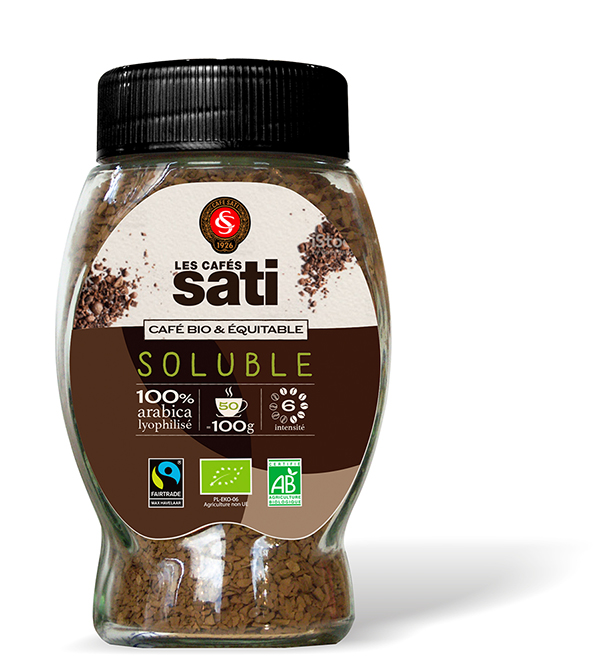 CAFE SOLUBLE 100G SATI BIO FAIRTRADE