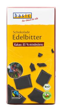 Edelbitterschokolade 85