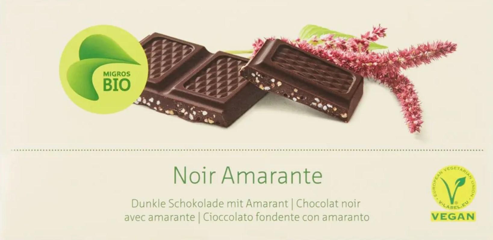 Dunkle Schokolade mit Amarant