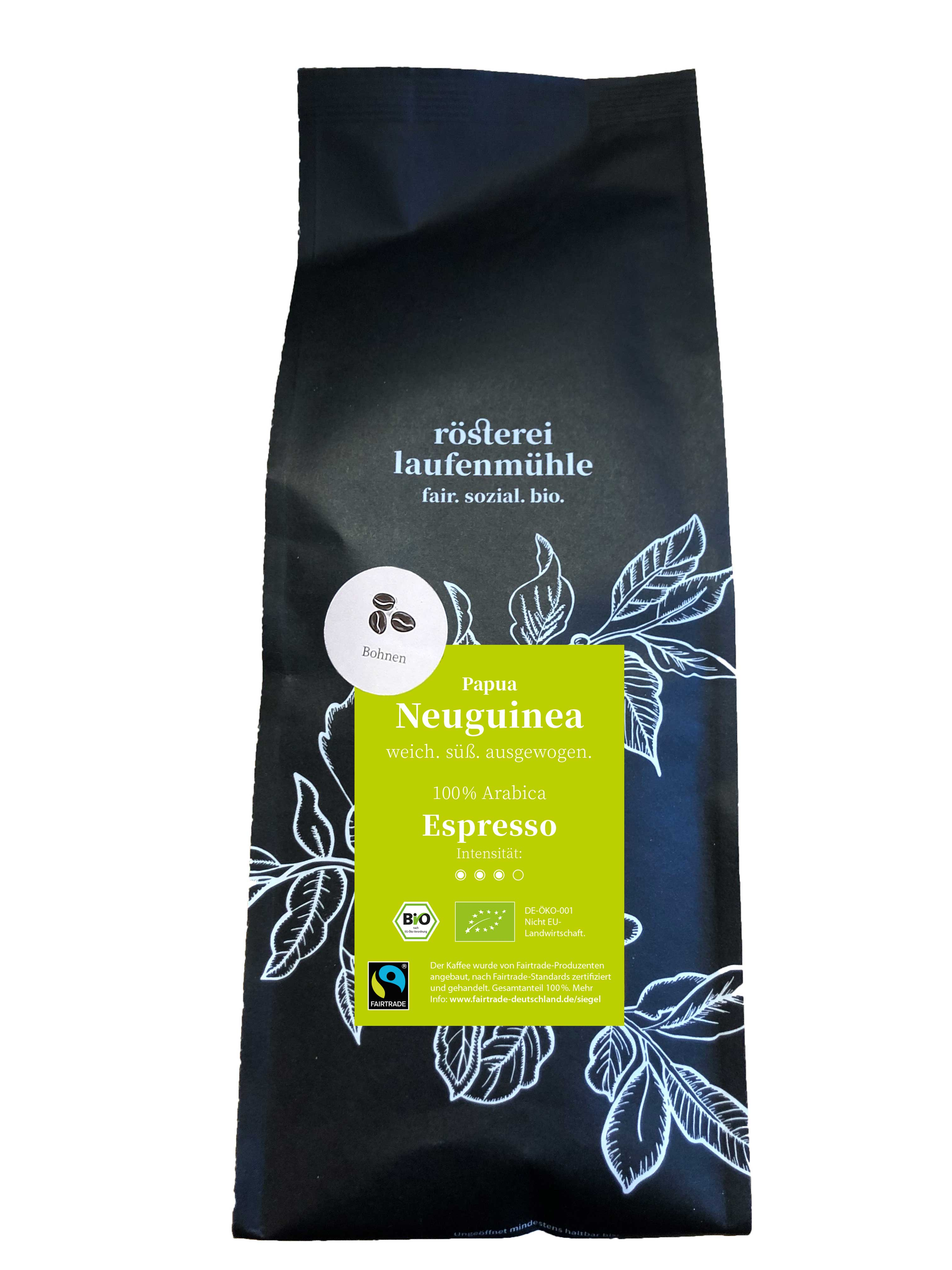 Papua NEU GUINEA Bio-Espresso FAIRTRADE Bohne 1000g